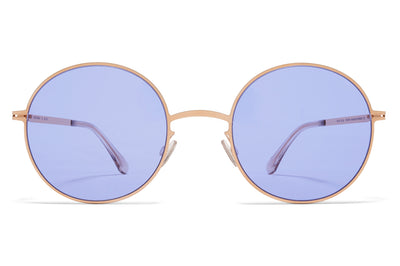 MYKITA - Studio 7.5 Sunglasses Champagne Gold with Jelly Purple Solid Lenses