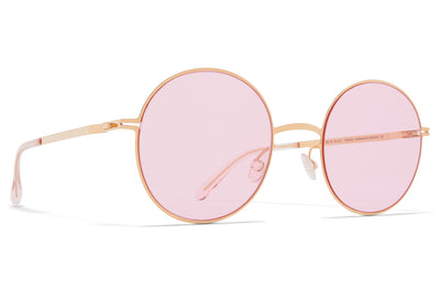 MYKITA - Studio 7.5 Sunglasses Glossy Gold with Jelly Pink Solid Lenses