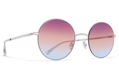 MYKITA - Studio 7.5 Sunglasses Shiny Silver with Triple Purple/Orange/Blue Gradient Lenses