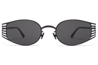 MYKITA STUDIO - Studio 8.2 Sunglasses Shiny Black with Dark Grey Solid Lenses