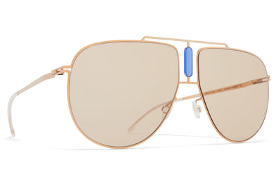 MYKITA STUDIO - Studio 9.1 Sunglasses S17 - Champagne Gold/Misty Blue with Soft Brown Solid Lenses