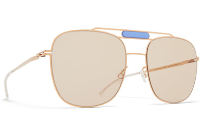 MYKITA STUDIO - Studio 9.2 Sunglasses S17 - Champagne Gold/Misty Blue with Soft Brown Solid Lenses