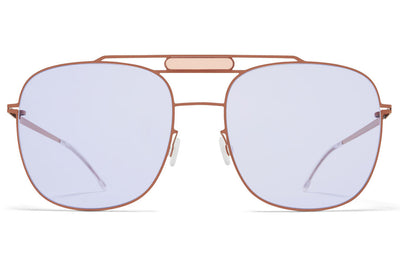 MYKITA STUDIO - Studio 9.2 Sunglasses S18 - Shiny Copper/Misty Peach with Soft Lila Solid Lenses
