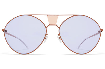 MYKITA STUDIO - Studio 9.3 Sunglasses S17 - Champagne Gold/Misty Blue with Soft Brown Solid Lenses