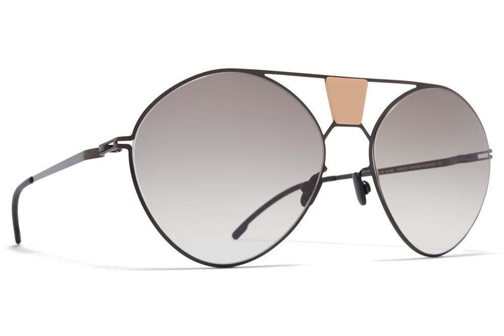 MYKITA STUDIO - Studio 9.3 Sunglasses S19 - Shiny Black/Nude with Original Grey Gradient Lenses