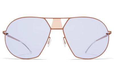 MYKITA STUDIO - Studio 9.4 Sunglasses S18 - Shiny Copper/Misty Peach with Soft Lilac Solid Lenses