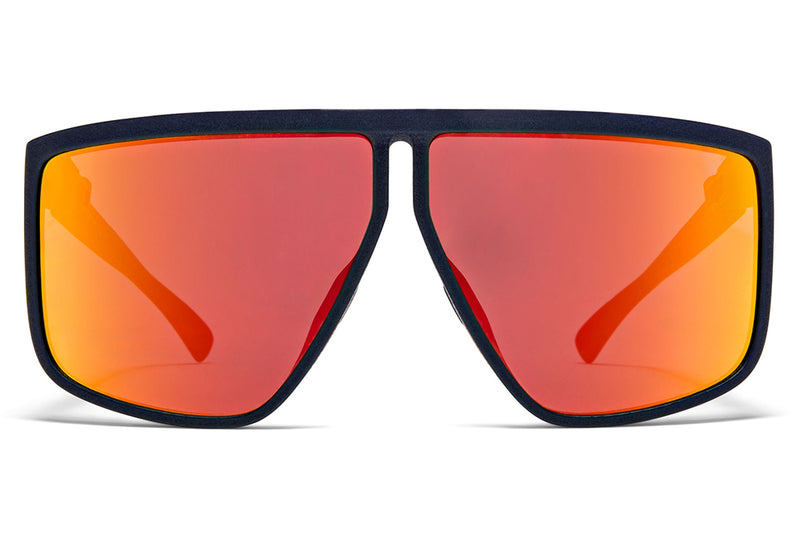MYKITA + Tim Coppens - Tequila MD25 - Navy Blue with Orange Flash Shield