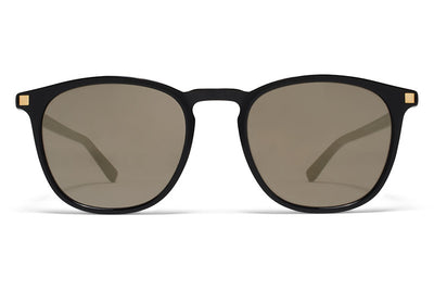 MYKITA Sunglasses -  Aluki Black/Glossy Gold with Brilliant Grey Solid Lenses