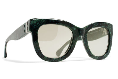 MYKITA / Damir Doma  - Dawn Sunglasses Marble Green with Misty Green Metallic Lenses