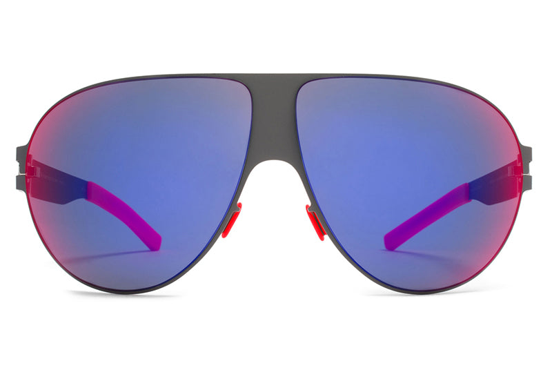 MYKITA & Bernhard Willhelm - Wastl F61 Basalt with Scarlet Flash Lenses