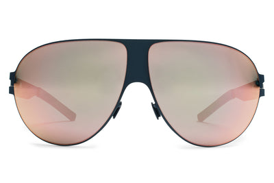 MYKITA & Bernhard Willhelm - Wastl F65 Navy Blue with Rose Gold Flash Lenses