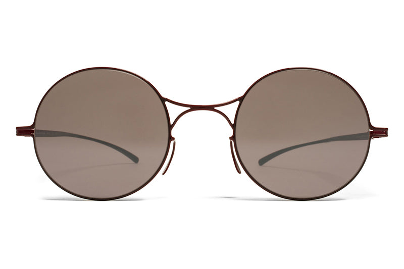MYKITA + Maison Margiela - MMESSE002 Sunglasses E7 Red with Dark Purple Flash Lenses