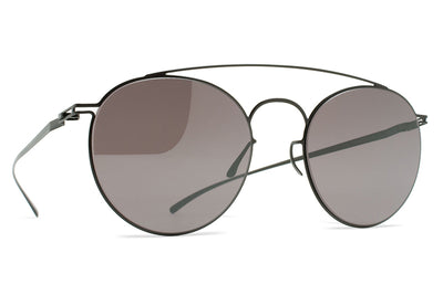 MYKITA + Maison Margiela - MMESSE005 Sunglasses E6 Dark Grey with Dark Purple Flash Lenses