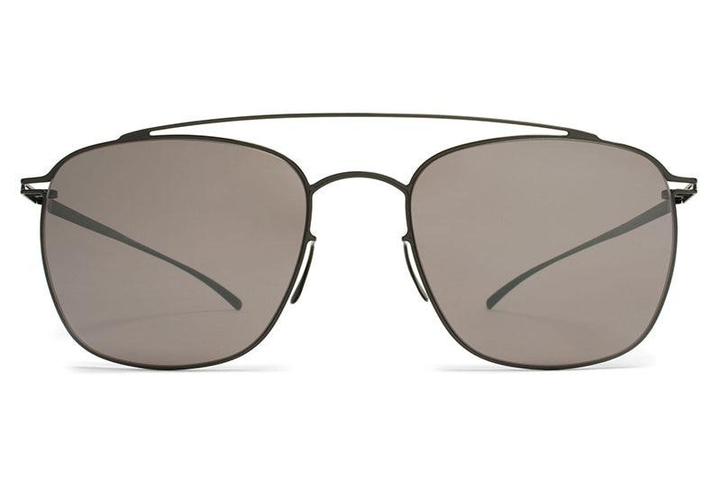MYKITA + Maison Margiela - MMESSE007 Sunglasses E6 Dark Grey with Dark Purple Flash Lenses