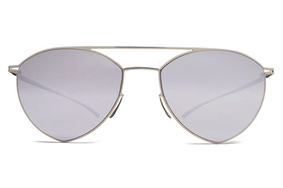 MYKITA + Maison Margiela - MMESSE010 Sunglasses E1 Silver with Silver Flash Lenses