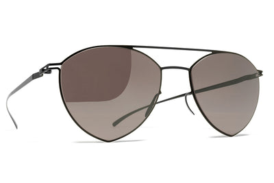 MYKITA + Maison Margiela - MMESSE010 Sunglasses E6 Dark Grey with Dark Purple Flash Lenses