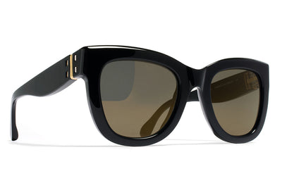 MYKITA / Damir Doma  - Dawn Sunglasses Black with Brilliant Grey Solid Lenses