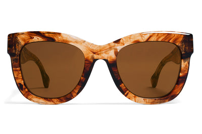 MYKITA / Damir Doma  - Dawn Sunglasses Cloudy Brown with Brilliant Dark Solid Brown Lenses