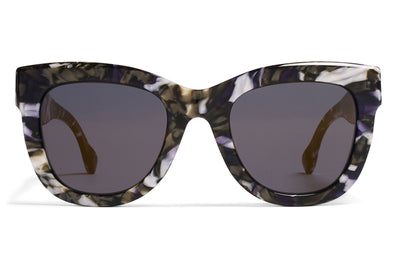 MYKITA / Damir Doma  - Dawn Sunglasses Terrazzo Blue with Brilliant Blue Solid Lenses