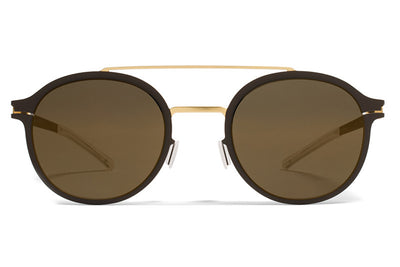 MYKITA Sunglasses - Crosby Gold/Terra with Brilliant Grey Solid Lenses