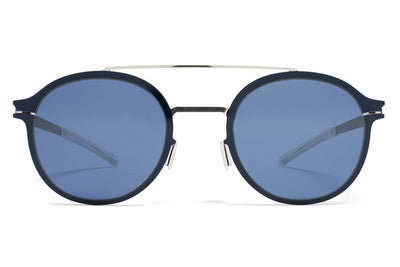 MYKITA Sunglasses - Crosby Silver/Night Sky with Saphire Blue Lenses