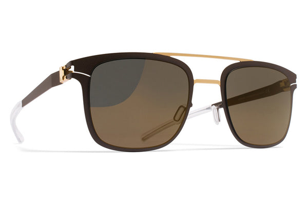 MYKITA Sunglasses - Hunter Gold/Terra with Brilliant Grey Solid Lenses