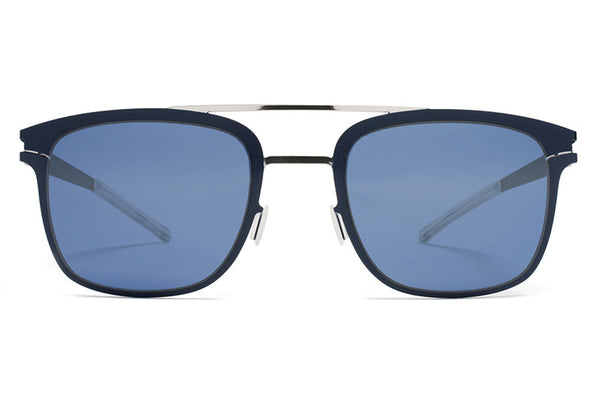 MYKITA Sunglasses - Hunter Silver/Night Sky with Saphire Blue Lenses