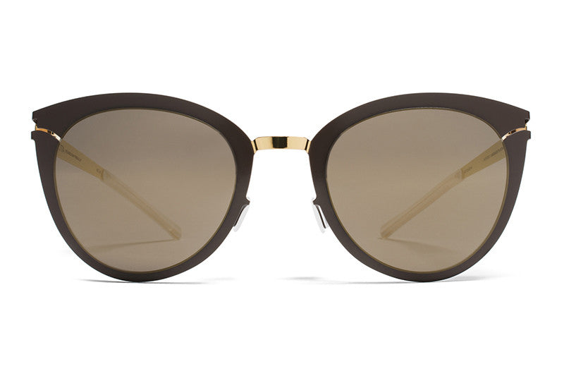 MYKITA Sunglasses - Priscilla Gold/Terra with Brilliant Grey Solid Lenses