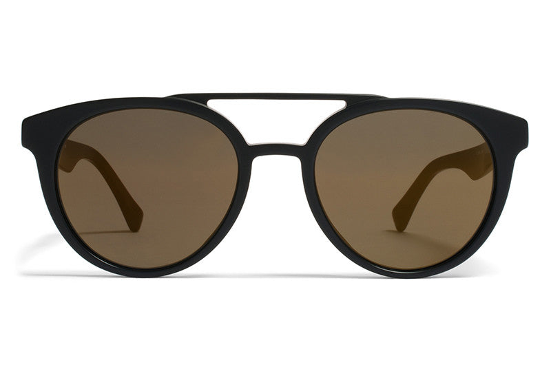 MYKITA Sunglasses - Giles Matte Black with Brilliant Grey Solid Lenses