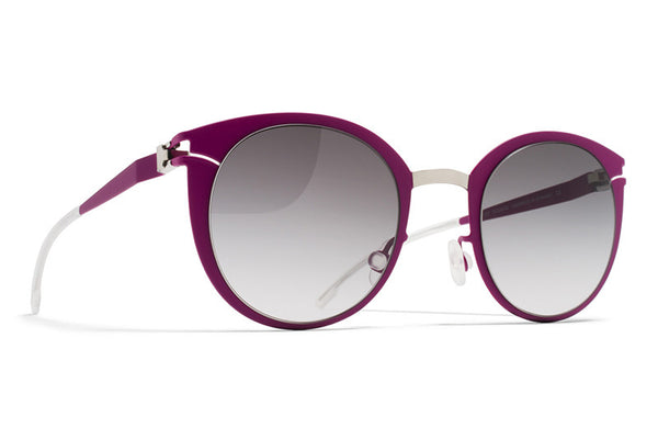 MYKITA First Sunglasses - Dodo Silver/Lilac with Black Gradient Lenses