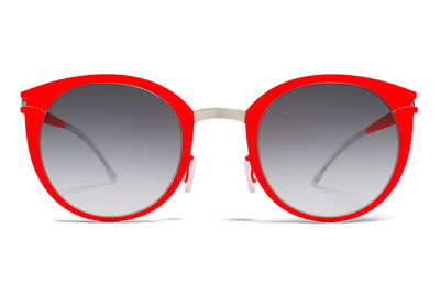 MYKITA First Sunglasses - Dodo Silver/Fluo Red with Black Gradient Lenses