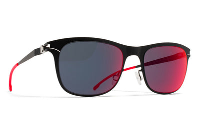 MYKITA First Sunglasses - Jaguar MYKITA First Sunglasses - JaguarBlack with Scarlet Flash Lenses