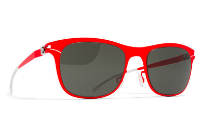 MYKITA First Sunglasses - Jaguar Fluor Red with Black Solid Lenses