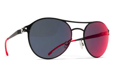 MYKITA First Sunglasses - Sparrow Black with Scarlet Flash Lenses