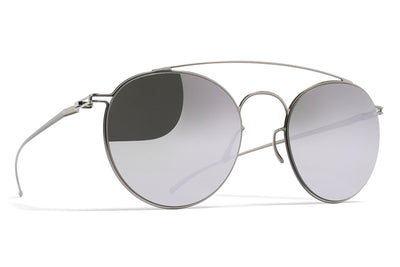 MYKITA + Maison Margiela - MMESSE005 Sunglasses E1 Silver with Silver Flash Lenses
