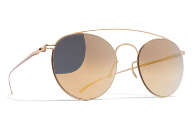 MYKITA + Maison Margiela - MMESSE005 Sunglasses E2 Gold with Gold Flash Lenses