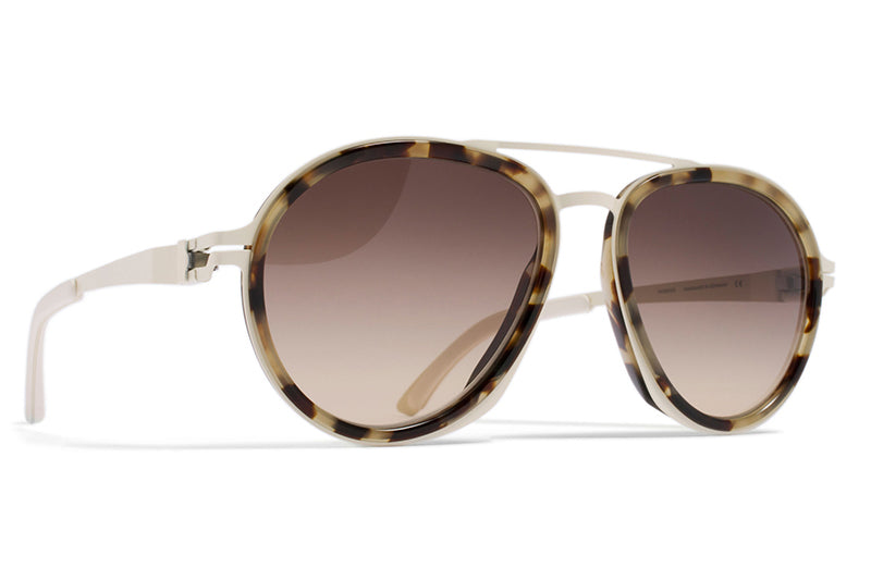 MYKITA / Damir Doma  - DD1.2 A7 Off White/Chocolate Chips with Brown/Brown Gradient Lenses