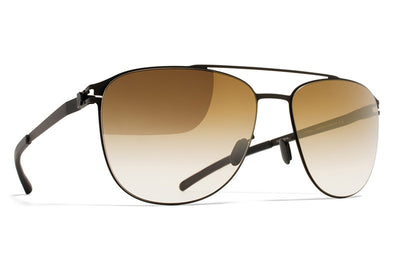 MYKITA Sunglasses - Doug Black with Bronze Gradient Flash Lenses