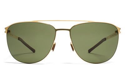 MYKITA Sunglasses - Doug Glossy Gold with MY+ Fern Polarized Lenses