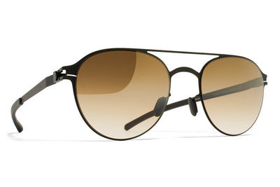 MYKITA Sunglasses - Reginald Black with Bronze Gradient Flash Lens