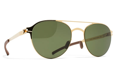 MYKITA Sunglasses - Reginald Glossy Gold with MY+ Fern Polarized Lenses