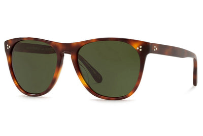 Oliver Peoples - Daddy B (OV5091SM) Sunglasses Dark Mahogany with Vibrant Green Lenses