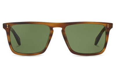 Oliver Peoples - Bernardo (OV5189S) Sunglasses Matte Sandalwood with Green Lenses