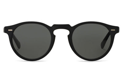 Oliver Peoples - Gregory Peck (OV5217S) Sunglasses Semi-Matte Black with Dark Grey Polar Lenses