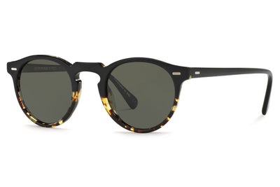 Oliver Peoples - Gregory Peck (OV5217S) Sunglasses Black - DTBK Gradient with Green Polar Lenses