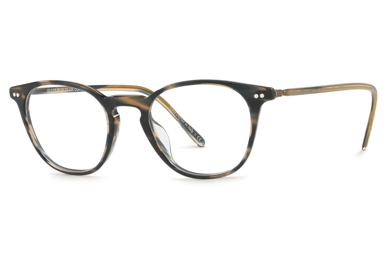 Oliver Peoples - Hanks - Tailored Fit (OV5361F) Eyeglasses Blue Cocobolo