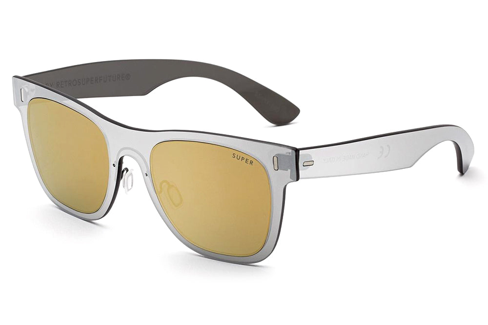 Retro Super Future® - Classic Duo Lens Sunglasses Duo Lens Gold Silver