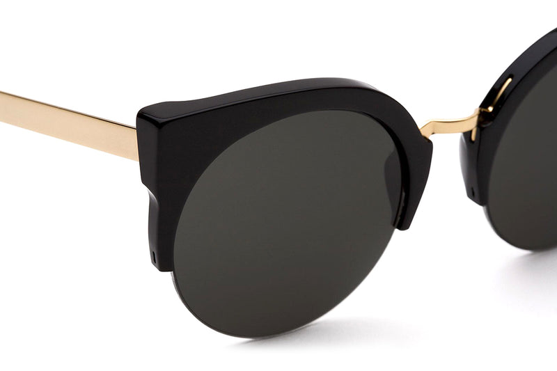 Retro Super Future® - Lucia Francis Sunglasses Black Gold