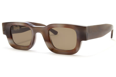 RHUDE x Thierry Lasry - Rhevision Sunglasses Brown & Grey Tortoise with Solid Brown Lenses (649)