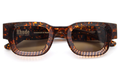 RHUDE x Thierry Lasry - Rhevision Sunglasses Brown Marble w/ Solid Brown Lenses (670)